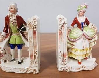 German Porcelain Bookends