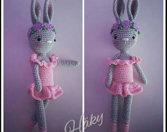 Cute amigurumi crocheted bunny süß gehäkelt hase