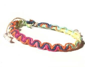 Rainbow Hemp Bracelet/Anklet