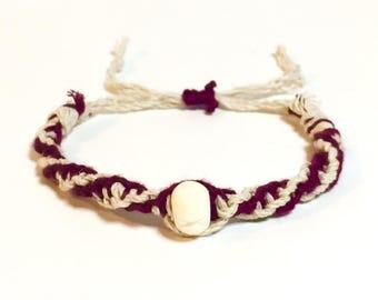 Double Helix Hemp Bracelet