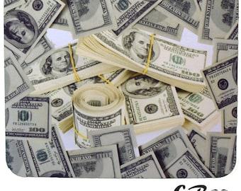 DAB MAT- money stacks- neopreme padded mat-glass coaster- free U.S. shipping!