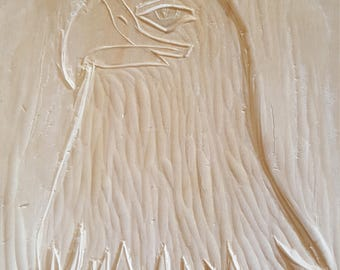 Hawk Relief Carving