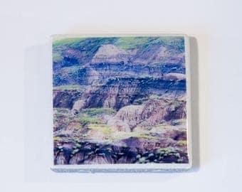 Abstract Badlands Ceramic Tile Magnets