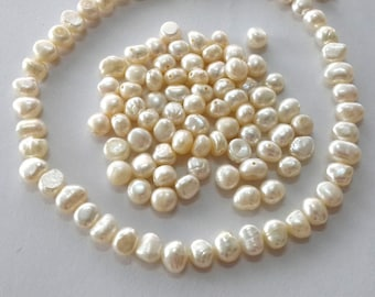 5-6mm baroque pearl, beads, genuine freshwater pearl, loose, wholesale, potato pearl, beads, cultured pearl, 15g