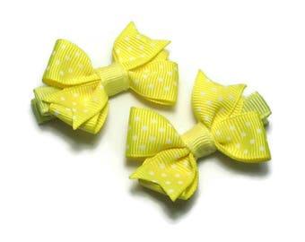 Girls Hairbows // Yellow Hair Bows // Toddler Hair Bows // Hair Bows for Girls