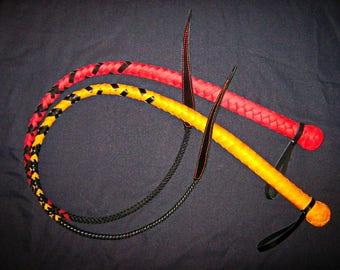 BDSM Handmade Leather Whip with Wedge / Handmade Leather Whip One Tailed Whip BDSM toys