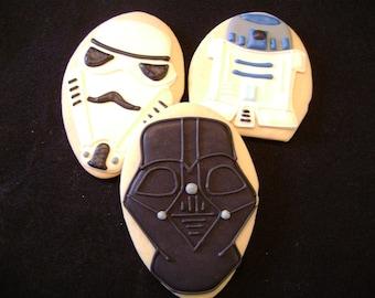 Custom Decorated Star Wars Cookies