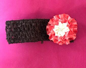 crochet headband, infant headband, girl's headband