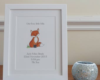Personalised nursery print- framed