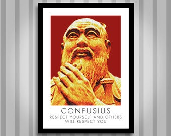 Confusius, motivational, Inspirational, Self Development, Personal Development, Poster