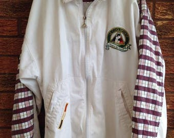 White and Checked LE COQ SPORTIF Men's Jacket
