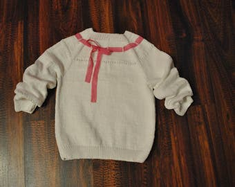 Raglan sweater for girls (3-4 years)