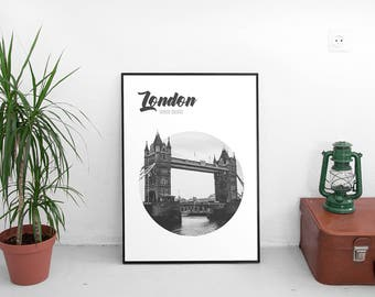 Tower Bridge London Poster (Travel Photography,Wall Art Prints,Printable Art,Printables,Digital Prints,Poster,Digital Download)