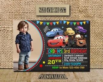 Disney Cars Invitation / Disney Cars Birthday / Disney Cars Invite / Disney Cars Party / Disney Cars Birthday Invitation / Disney Cars