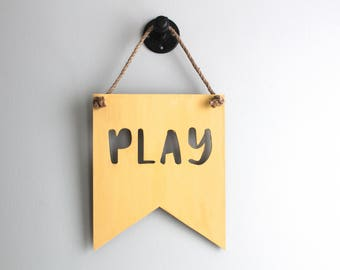 Play Sign - Play Room Decor - Playroom Decor - Playroom Sign - Playroom Art - Playroom Wall Art - Playroom Wall Decor - Kids Playroom Decor