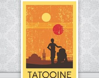 Tatooine-Star Wars Poster