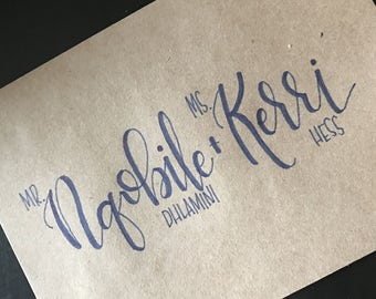 Handwritten Invitation Addresses