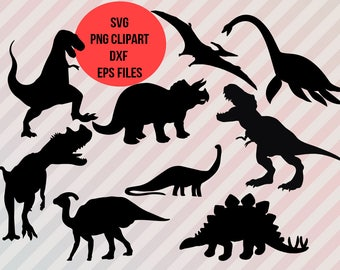 Dinosaurs Svg, Dinosaur Clipart, Dinosaurs Cut files, Dinosaurs dxf, Silhouette cameo and cricut files, printable Dinosaurs Clip Art, T-rex