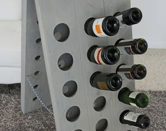 French Riddling Wine Rack