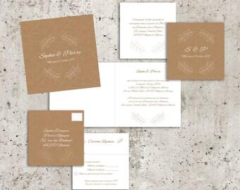 Nature Chic wedding invitations