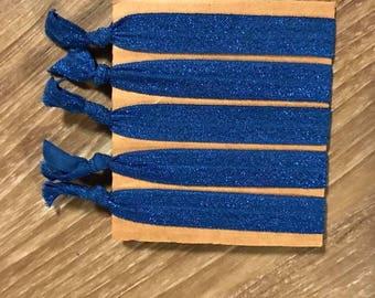 Blue Hair Ties