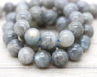 Labradorite Round Smooth Gemstone Beads (4mm 6mm 8mm 10mm 12mm)