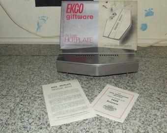 Vintage EKCO De-Luxe Hotplate - Boxed - Retro - Fabulous Collectable Kitchenalia
