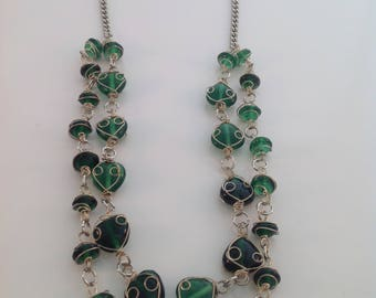 WIRE GREEN NECKLACE