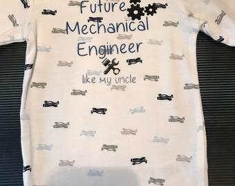 Future Mechanical Engineer Baby Onesie