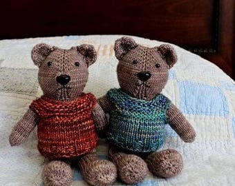 Teddy Bear, medium size, hand knit