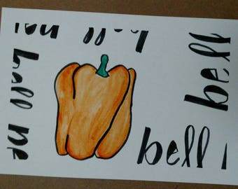 bell pepper, orange