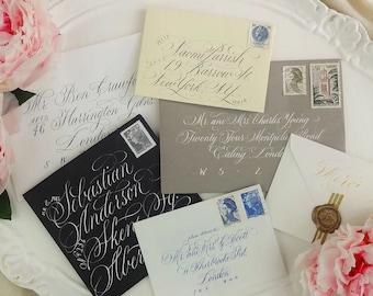 Calligraphy Envelope Addressing UK