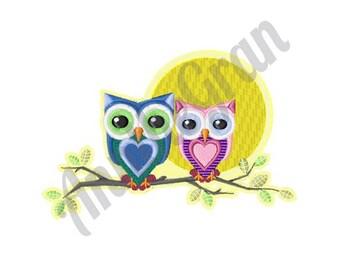 Owls Machine Embroidery Design