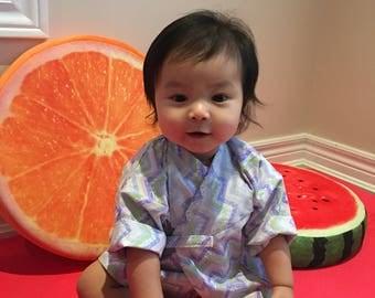 100% Cotton Baby Kimono Robe (Cute Candy) || Perfect Baby Shower Gift for Boy or Girl || Mini Kimono to match Mom's