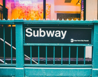 New York Subway Instant Download Art, Digital Prints Decor, Instant Prints, Manhattan Printable Art, Photography, Download Prints