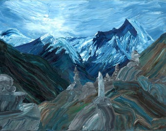 Annapurna Sanctuary Landscape, Canvas or Photo Print