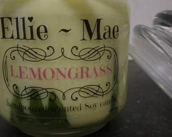 Lemongrass Soy wax jar candle
