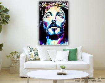 Tamatina Canvas Art - Lord and Savior: Jesus Christ - Giclée Art - Unframed - 36 Inches x 24 Inches.