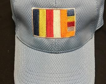 Buddhist flag light blue cap