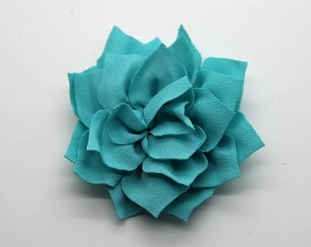 2 Sky Blue Poinsettia Flower Baby Girl Flower Hair Clips Brooches