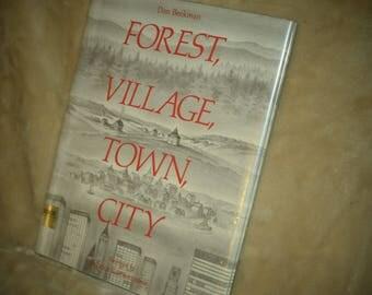 Forest, Village, Town, City vintage book