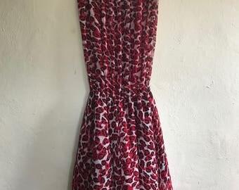 Vintage Animal Print Dress Size 10/12