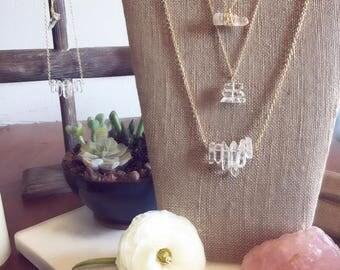 Quartz Crystal Stack Necklace