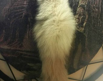 Dyed Blue Fox Tail