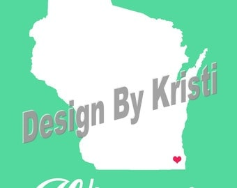 Home State Customize-able Digital Download print, Custom State map, Personalized map, US state print, room map decor, State Map