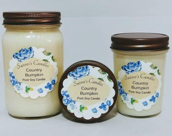 Mason jar candle,soy candles,16oz candle,Organic Soy Candle,pure soy candle,scented candles,container candle,country scented,natural candle,
