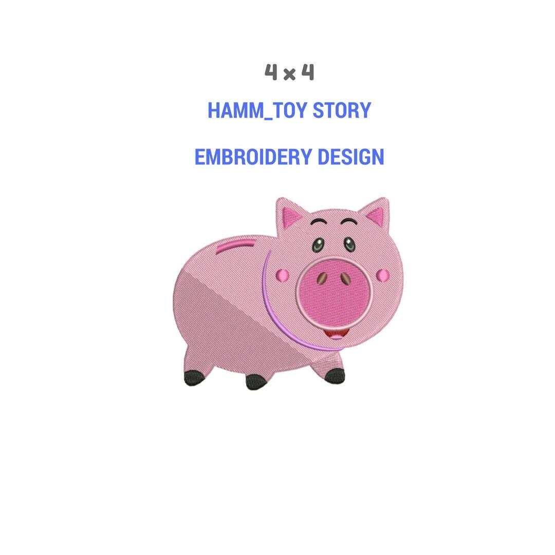Toy Story-Hamm-Schwein-Stick-Design | Maschine Stickerei Design ...