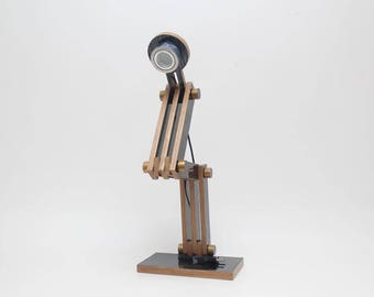 Folding lamp black silver brown line