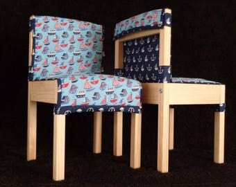 Childrens' Quilted Cushions for LÄTT Table & Chair Set - Boats