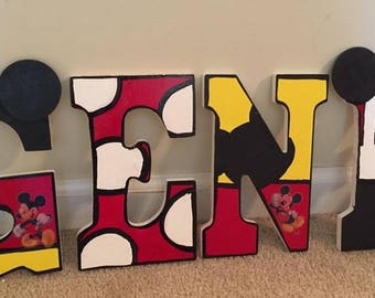 Personalized Hand Painted Wall letters